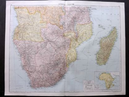 Gross 1920 Large Map. Africa - South